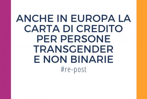 La nuova carta di credito per persone transgender