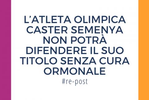 Caster Semenya non potrà difendere il suo titolo olimpico