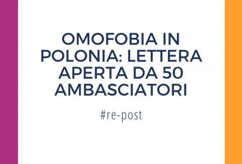 Omofobia in Polonia, lettera dagli ambasciatori